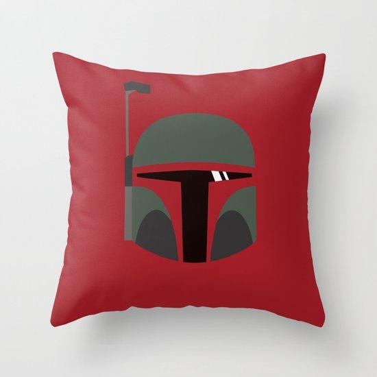 Star Wars Minimalism - Boba Fett Throw Pillow