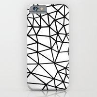 Segment Dense Black on White iPhone 6 Slim Case
