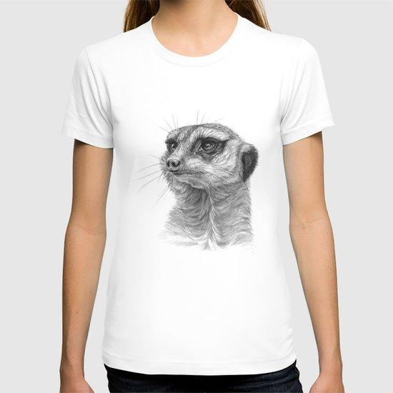 Meerkat-portrait G035 T-shirt