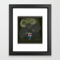 Monster girl in Horrorcolor Framed Art Print