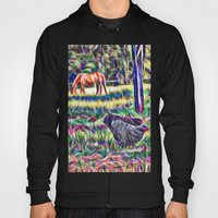 Horses And Hens In A Fie… Hoody