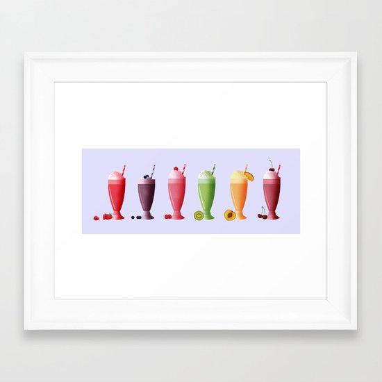 Milkshakes Framed Art Print