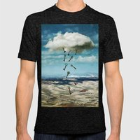 The cloud Mens Fitted Tee Tri-Black SMALL