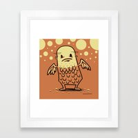 Bald Angel Framed Art Print