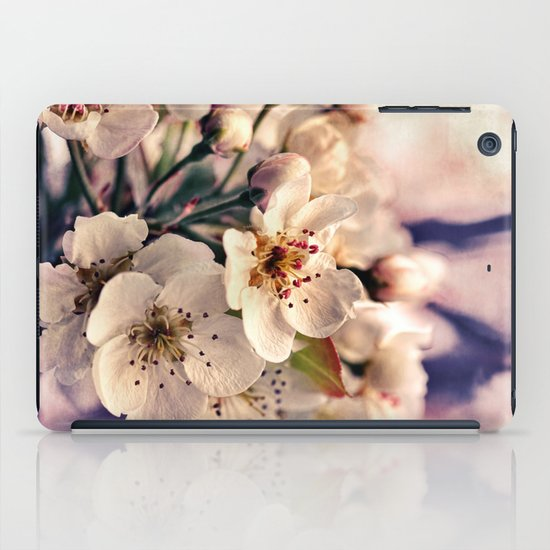 Blossoms at Dusk - vintage toned & textured macro photograph iPad Case