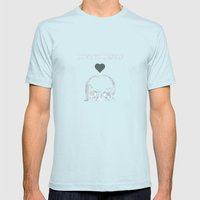 Love Yourself Mens Fitted Tee Light Blue SMALL