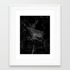 Tucson Map Framed Art Print