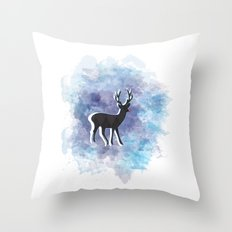 Somewhere In The Snow Throw Pillow
