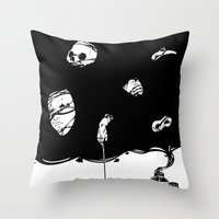 Tinta Negra Throw Pillow