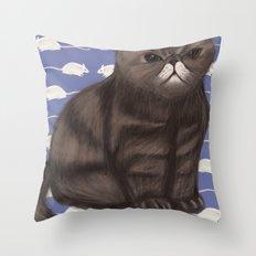 Cranky Cat / Shitty Kitty Throw Pillow