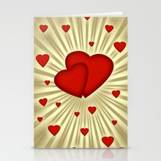 Hearts 7 Stationery Cards