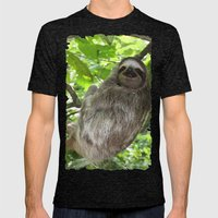Sloths in Nature Mens Fitted Tee Tri-Black SMALL