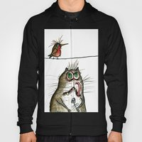 A Cat ponders, fish or poultry? Hoody