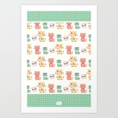 Business Cats Art Print