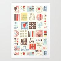 Sweetie Darling Art Print