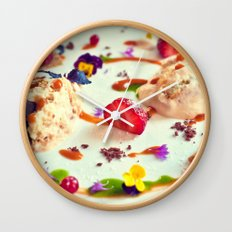 Peach tiramisu :) Wall Clock