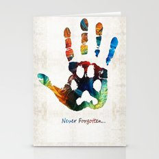 Rainbow Bridge Art - Never Forgotten - By Sharon Cummings Stationery Cards