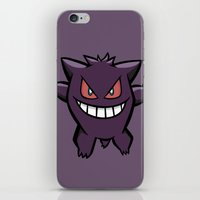 Gengar The Ghost - First Generation Pocket Monsters Design Cartoon iPhone & iPod Skin