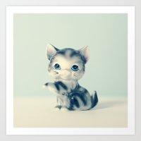 Little Grey Art Print
