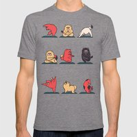 Cat Yoga Mens Fitted Tee Tri-Grey SMALL