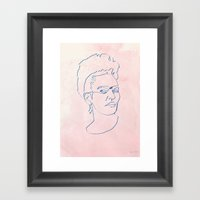 One Line Frida Kahlo Framed Art Print