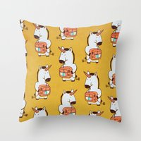 Delicious Colors Throw Pillow