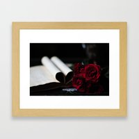 My Love Is Like A Red, R… Framed Art Print