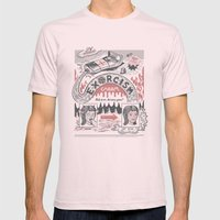 Exorcism Cream Mens Fitted Tee Light Pink SMALL
