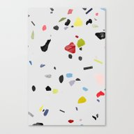 Painted Terrazzo 1 Canvas Print