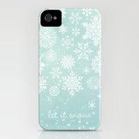 iPhone Cases featuring Let it snow by Angela Fanton