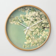 Lilacs Wall Clock