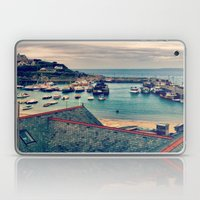Grey Clouds Above The Fe… Laptop & iPad Skin