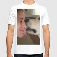 ATTN: DOG LOVERS Mens Fitted Tee White SMALL