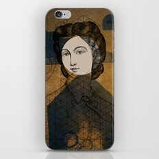 Coiffure for a young lady iPhone & iPod Skin