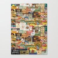 Labels Canvas Print