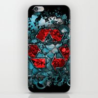 Recycle World - Blue iPhone & iPod Skin