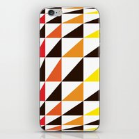 Red Yellow Triangle Pattern iPhone & iPod Skin