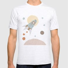 spaceship collage Mens Fitted Tee Ash Grey SMALL