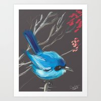 Little Blue Fairy Art Print