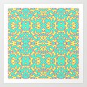 Electric Pattern Art Print