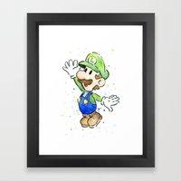 Luigi Watercolor Art Framed Art Print