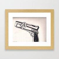 White Bullet Framed Art Print