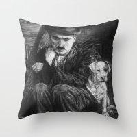A Dog's Life Throw Pillow