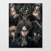 Attack of the Evil Giants Canvas Print