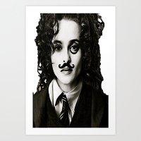 Helena Bonham... Chaplin… Art Print