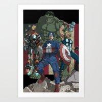 The Avengers: Earth's Mi… Art Print