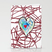 scribble heart Stationery Cards