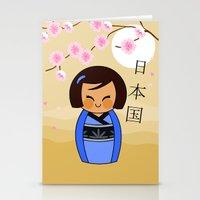Kokeshi Mizuki Stationery Cards
