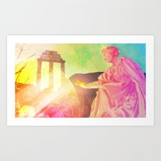 the discovery of technicolor Art Print