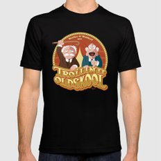 Statler & Waldorf Mens Fitted Tee Black SMALL